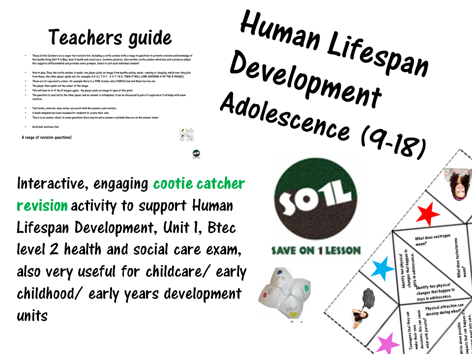 Human Lifespan Development revision (ages 9-18), Unit 1, Btec level 2 health and social care exam,