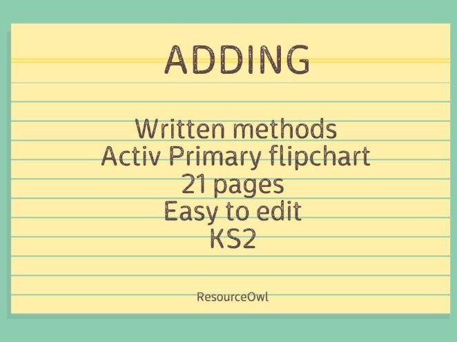 Addition Flipchart
