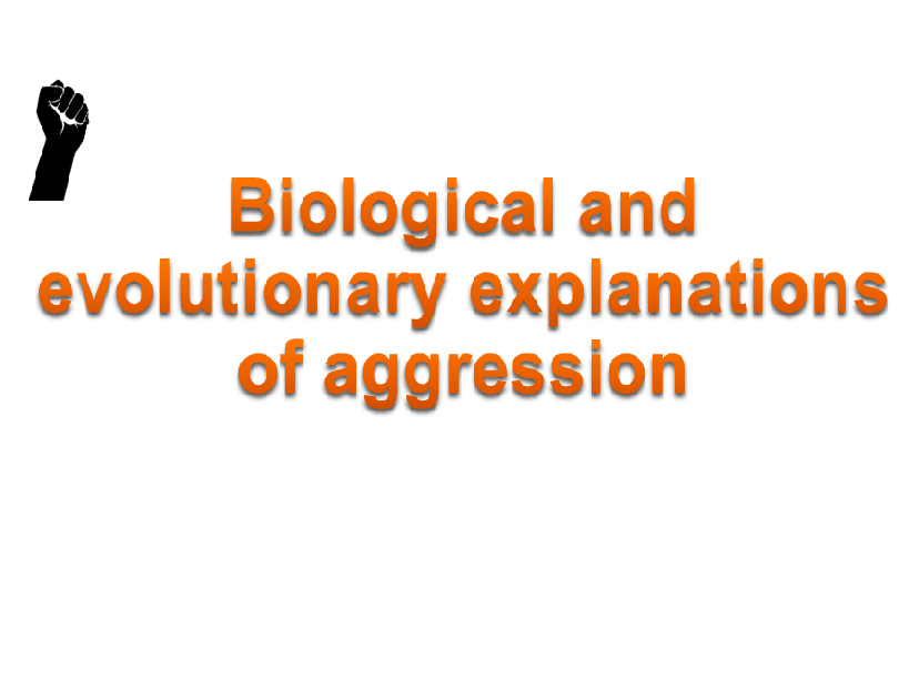 AQA psychology Aggression biological, evolutionary and ethnological explanations