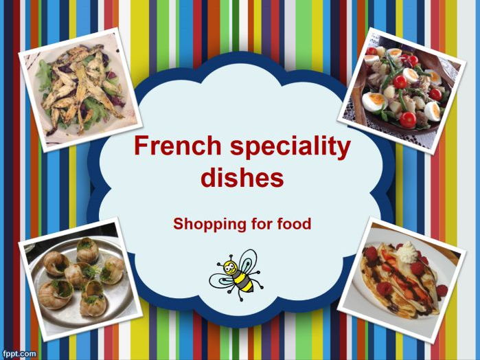 French food - speciality dishes - blank poster sheets