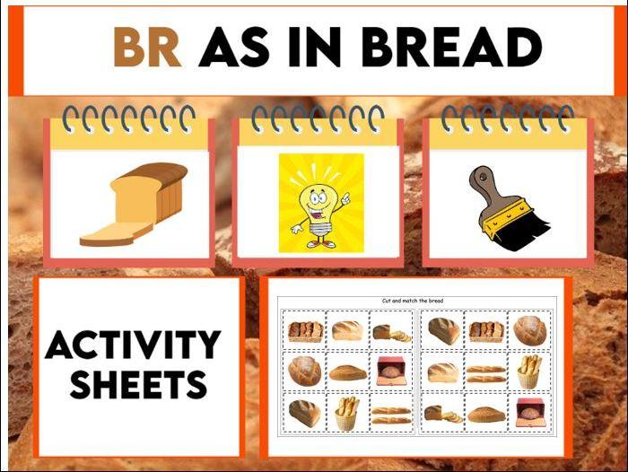 Br as in Bread Activity Booklet KS1