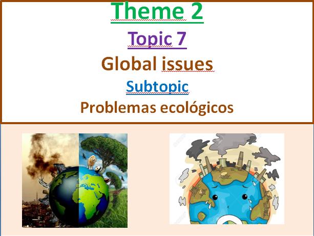 Problemas ecologicos - New AQA GCSE El medio ambiente