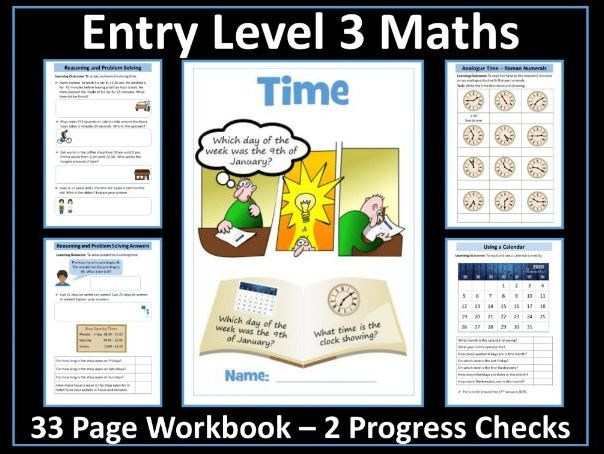 Time AQA Entry Level 3 Maths