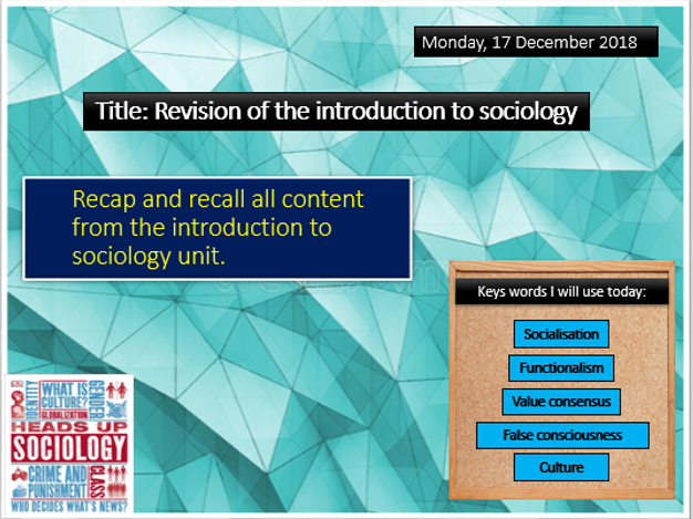 AQA GCSE sociology revision session