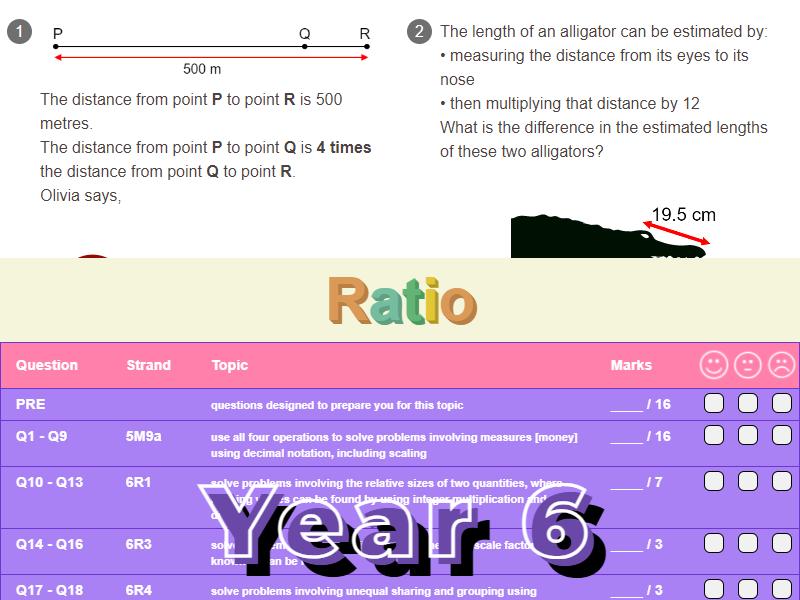 Ratio Worksheet + Answers (KS2 - Year 6)
