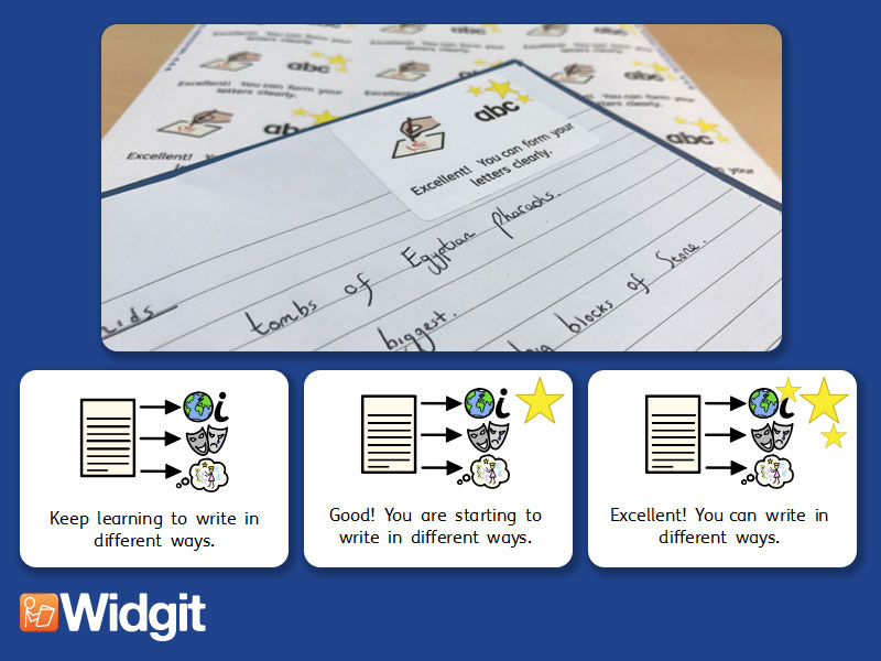 Text Types & Styles - Marking Stickers with Widgit Symbols