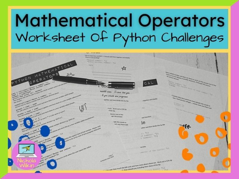 Python Mathematical Operators