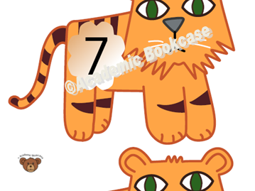 Numbers 0-20 on tigers