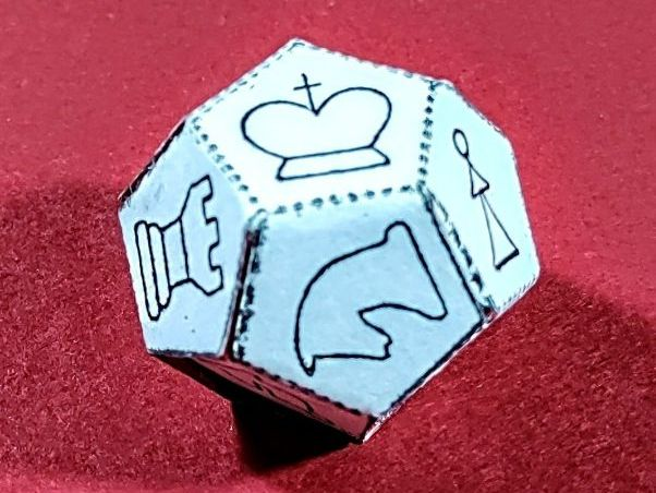 Chess Die Net - D12 dodecahedron - A4