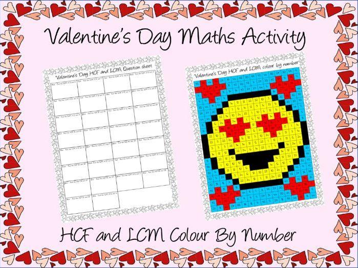 Valentine's Day Maths HCF & LCM