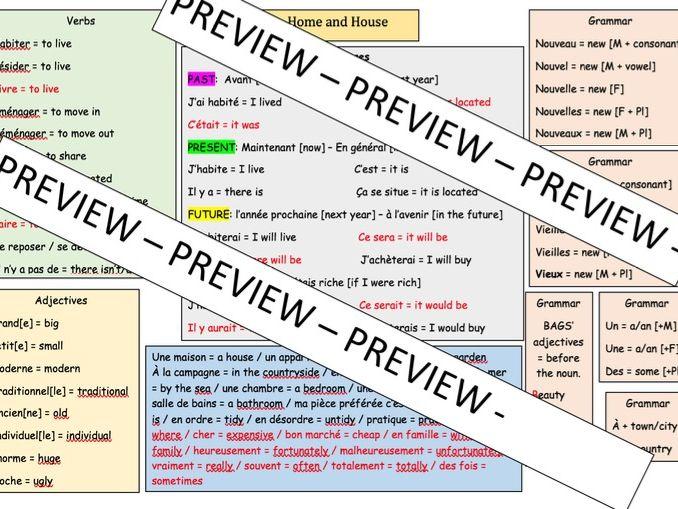 French Mat - School rules and Pressures - KS4 (iGCSE - GCSE)