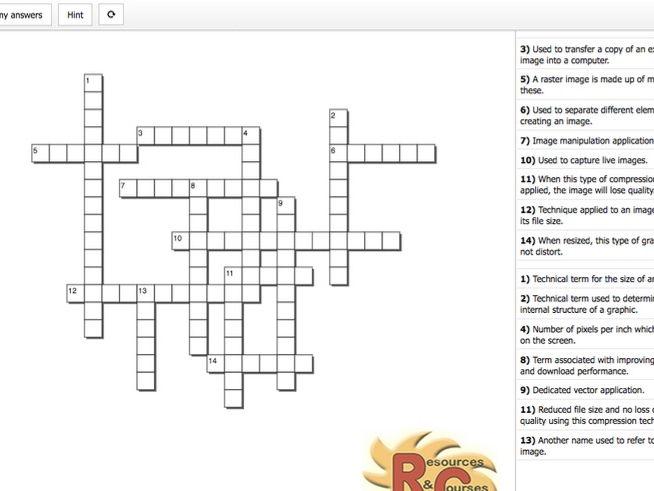 Creative Media Production Level 2 Unit 11 LO1 Interactive Crossword & Quiz LO3 Set