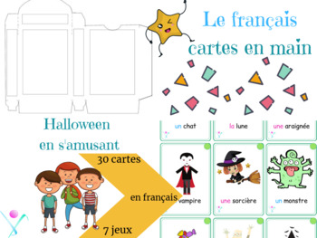 French Playing cards Halloween