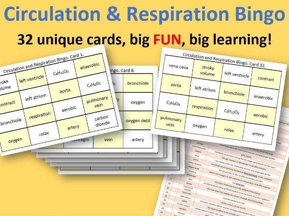 Respiration & Circulation Bingo