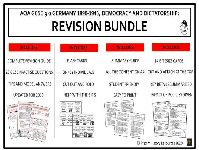 Germany Democracy and Dictatorship Revision Bundle