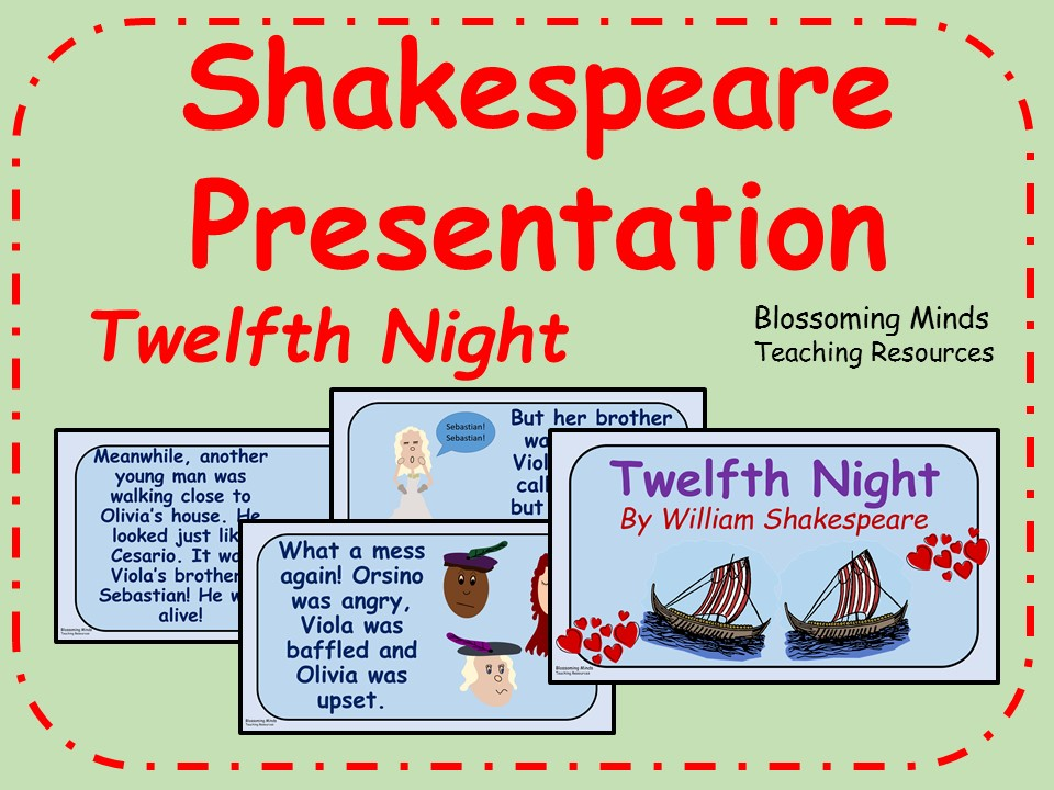 Twelfth Night Presentation (Shakespeare) - KS1 & KS2
