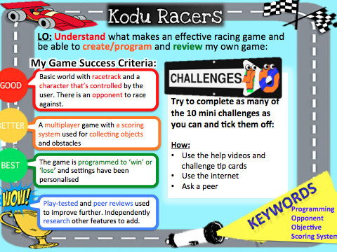 Kodu racing game project