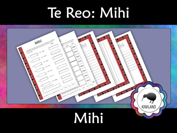 New Zealand Resources: Mihi