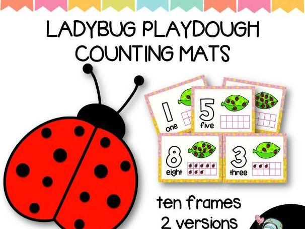 Ladybug Play Dough Counting Mats