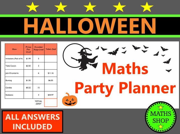 Halloween Maths Money Word Problems