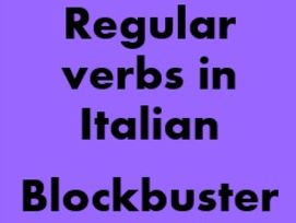 Italian Regular verbs Blockbuster games for Smartboard