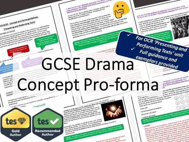 OCR GCSE Drama Concept Pro-Forma Guidance Booklet