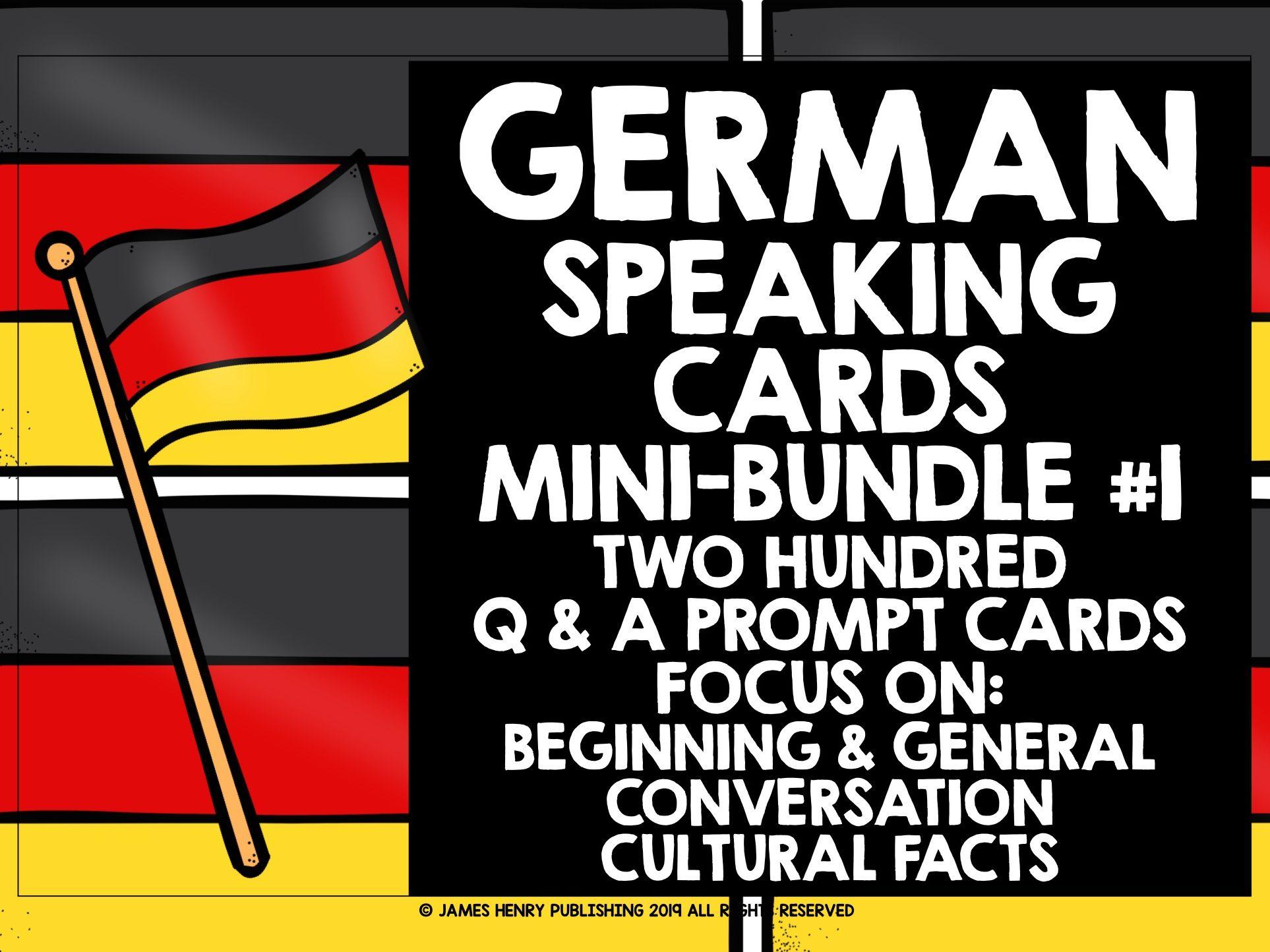 GERMAN SPEAKING PRACTICE MINI-BUNDLE #1