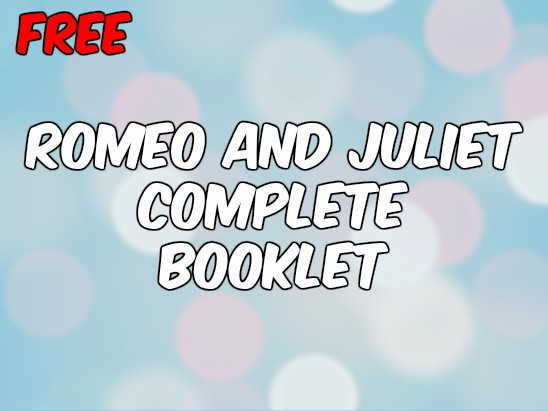 Booklet: Romeo and Juliet Language Analysis (OCR English Literature NEW SPEC)