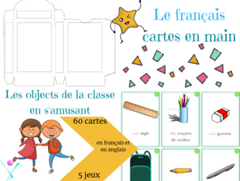 French school objects playing cards
