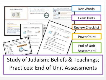 WJEC Eduqas: Study of Judaism: End of Unit Assessments x 2