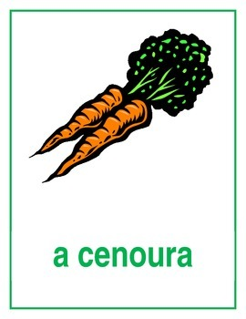 Legumes (Vegetables in Portuguese) Posters