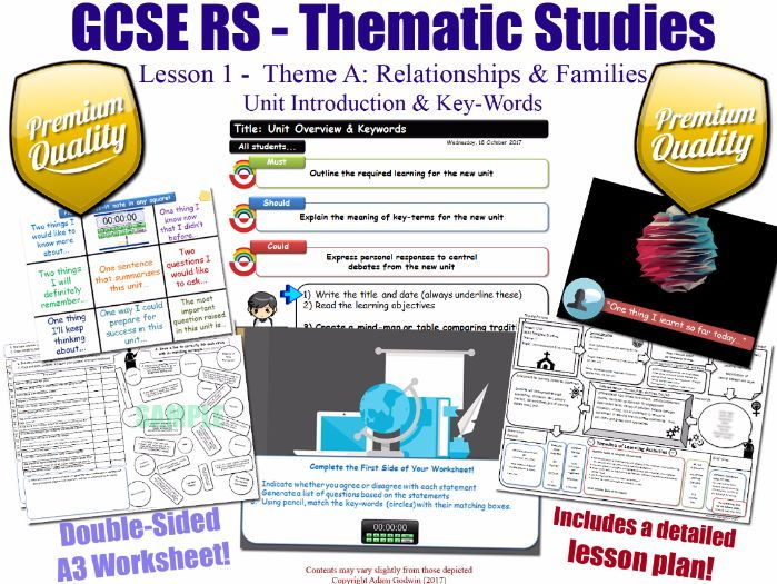 Relationships & Families - Introduction - L1/10 [GCSE RS - Thematic Studies - Christian Views] A