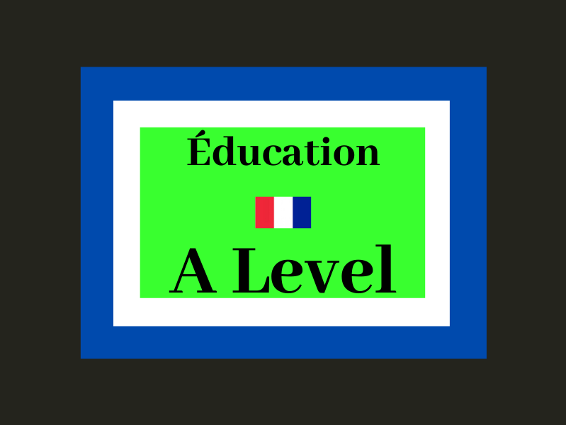 French A Level Education (WHOLE UNIT - listening, reading, speaking, cultural facts)