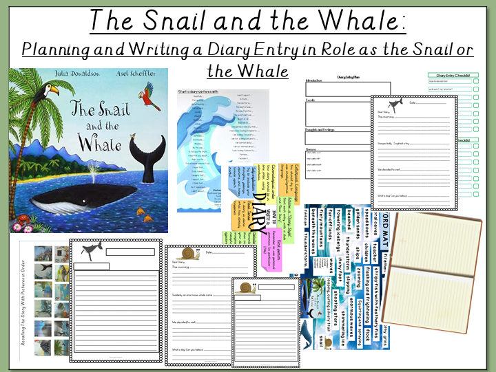 The Snail and the Whale- Planning and Writing a Diary Entry in Role as the Snail or the Whale