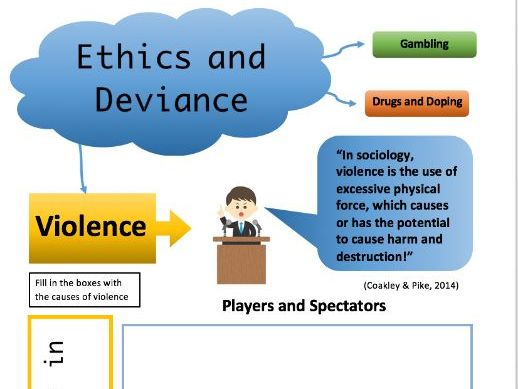 Ethics and Deviance (A Level PE) Worksheet