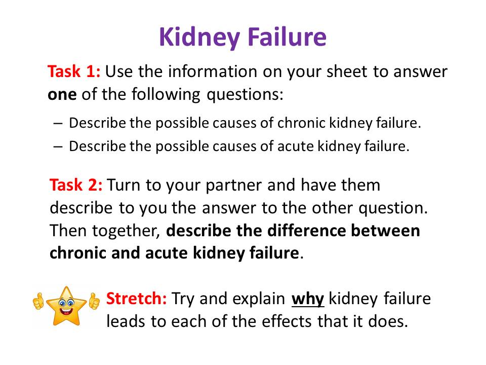 Kidney Failure - OCR AS/A Level Biology