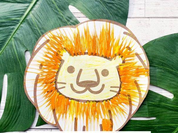 Blank Lion Template