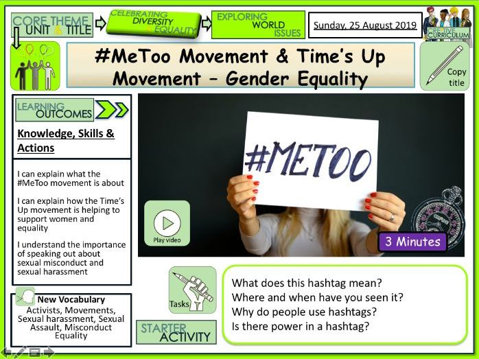 Times Up Movement and #METOO
