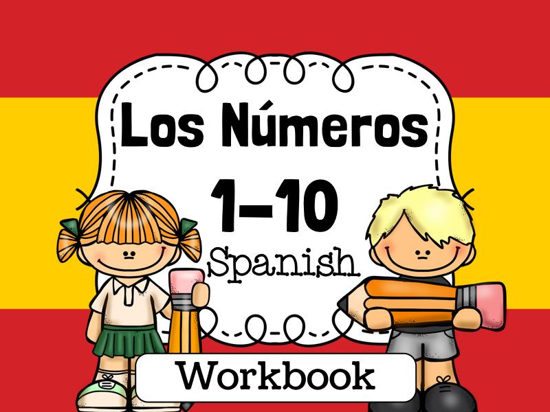 Spanish Numbers Practice 1-10 worksheets. Los números 1-10 en Español - fichas
