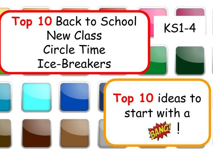 Top 10 New Class Icebreakers and Circle Time activities