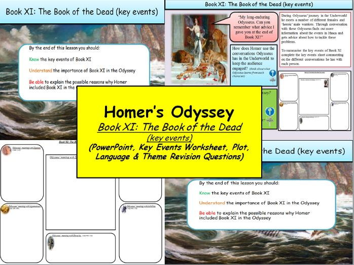 Homer's Odyssey – Book XI: The Book of the Dead (key events)
