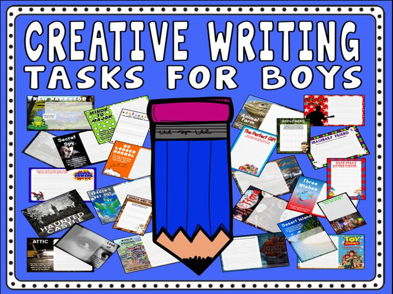 CREATIVE WRITING FOR BOYS TEACHING RESOURCES K2 ENGLISH LITERACY KEY STAGE 2
