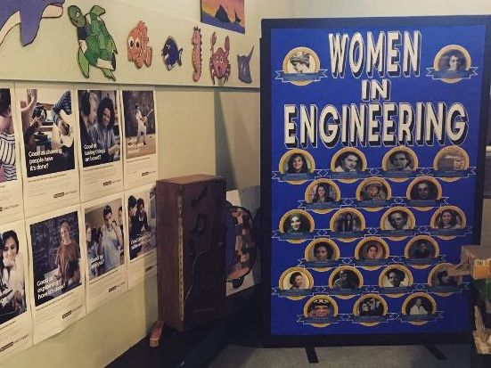 Women in Engineering Display STEM