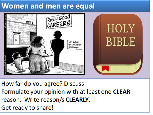 AQA Relationships/Human Rights: Status &roles of men and women/Gender Equality