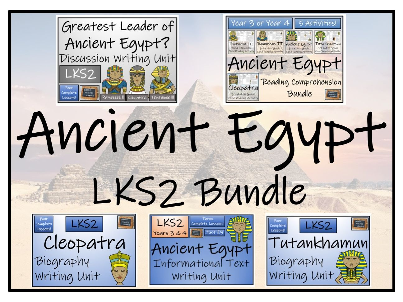 LKS2 Ancient Egypt Reading Comprehension & Writing Bundle