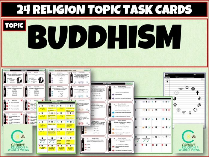 Buddhism Task Cards