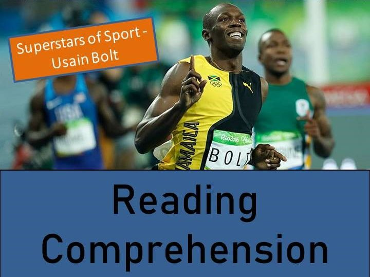 Usain Bolt Reading Comprehension Activity