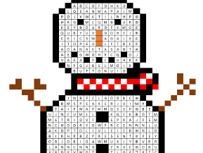 Computer Science Christmas Word Search - Input and Output Devices - xmas