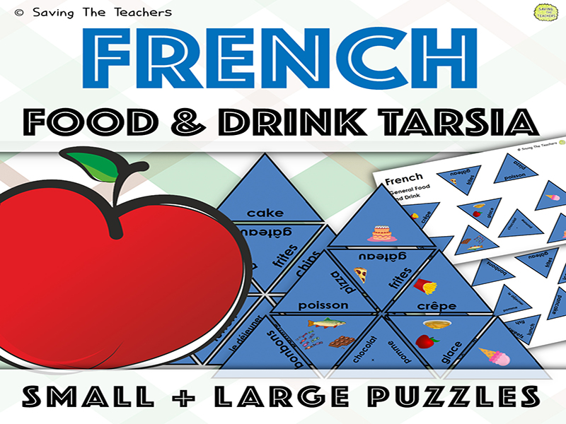French Food and Drink Vocabulary Tarsia Puzzles