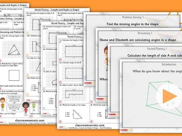 Year 5 Lengths and Angles in Shapes Summer Block 2 Step 7 Lesson Pack